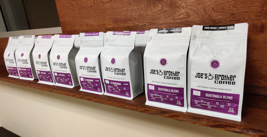 Line of Single Origin Coffees by Joe's Brother Coffee